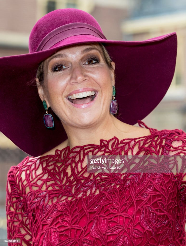"""Queen Maxima Of The Netherlands Opens """"10 Pieces On Tour"""" Exhibition AT Mauritshuis Museum in The Hague"""