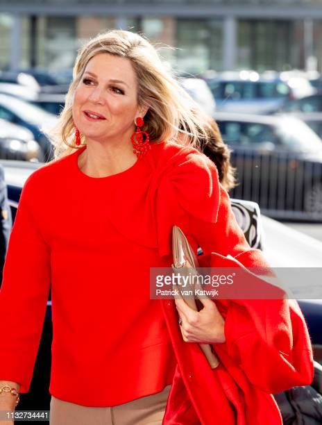 Queen Maxima of The Netherlands opens the week of the money with theme 'Are you a hero with your money' on March 25, 2019 in Breda, Netherlands.
