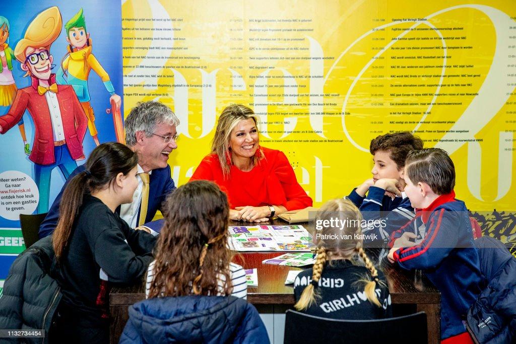 Queen Maxima Of The Netherlands Opens Week Of Money In Breda : Nieuwsfoto's