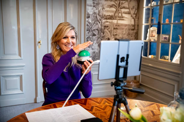 NLD: Queen Maxima Of The Netherlands  Presents Digital Opening Prodrive Technologies From Palace Huis ten Bosch