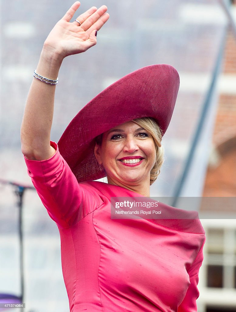 Queen Maxima of The Netherlands participate in King's Day celebrations on April 27, 2015 in Dordrecht, Netherlands.