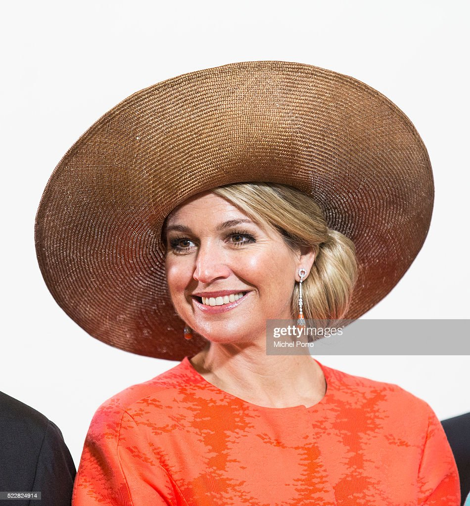 Queen Maxima of The Netherlands poses for a photo after attending the Four Freedoms Awards on April 21, 2016 in Middelburg, Netherlands.