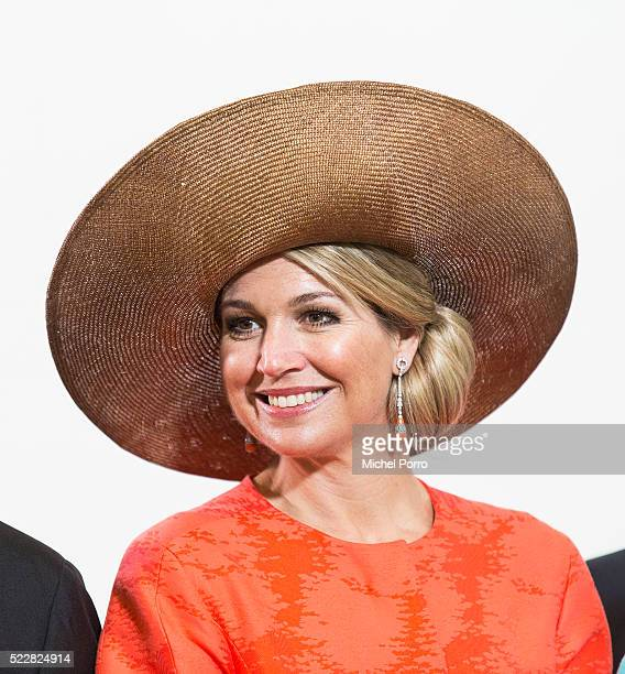 Queen Maxima of The Netherlands poses for a photo after attending the Four Freedoms Awards on April 21 2016 in Middelburg Netherlands