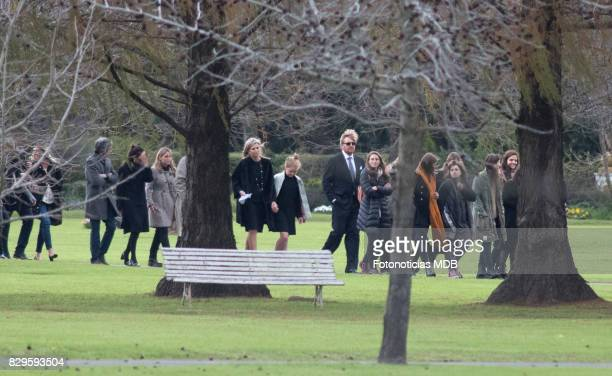 Queen Maxima of The Netherlands Princess Alexia of The Netherlands and King Willem Alexander of The Netherlands seen at Parque de la Memoria after...