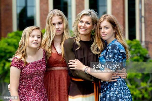 Queen Maxima of The Netherlands, Princess Amalia of The Netherlands, Princess Alexia of The Netherlands and Princess Ariane of The Netherlands during...