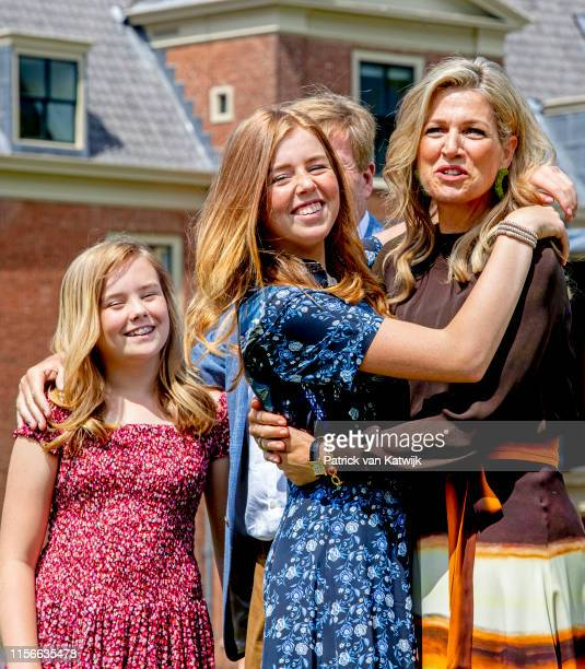 Queen Maxima of The Netherlands Princess Amalia of The Netherlands Princess Alexia of The Netherlands and Princess Ariane of The Netherlands during...