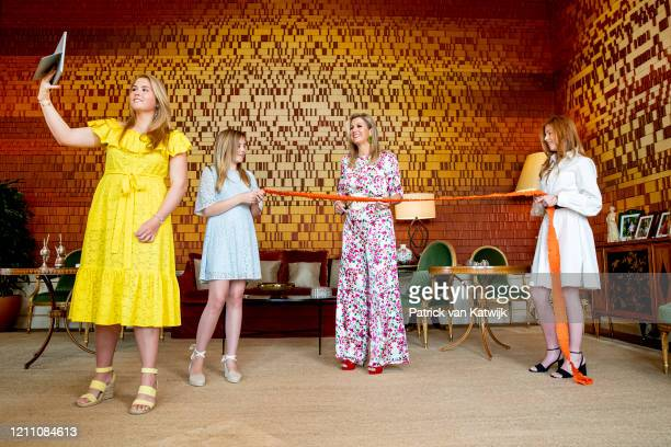 Queen Maxima of The Netherlands, Princess Amalia of The Netherlands, Princess Alexia of The Netherlands and Princess Ariane of The Netherlands...