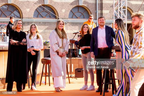 Queen Maxima of The Netherlands, Princess Ariane of The Netherlands, Princess Amalia of The Netherlands and Princess Alexia of The Netherlands and...