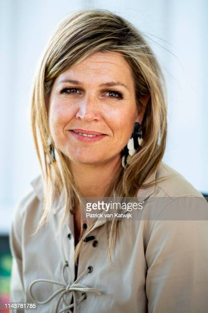 Queen Maxima of The Netherlands smiles during a visit to beer brewery Habesha and local famers in Debre Berhan Ethiopia