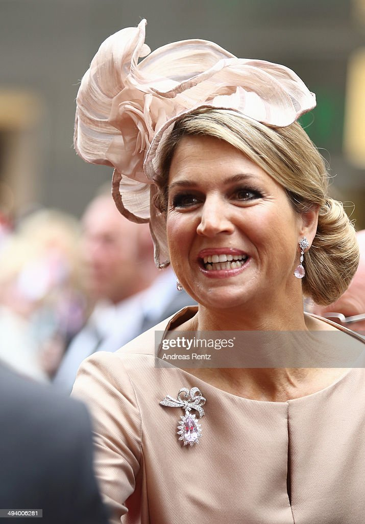 King Willem-Alexander And Queen Maxima Of The Netherlands Visit North Rhine-Westphalia : News Photo