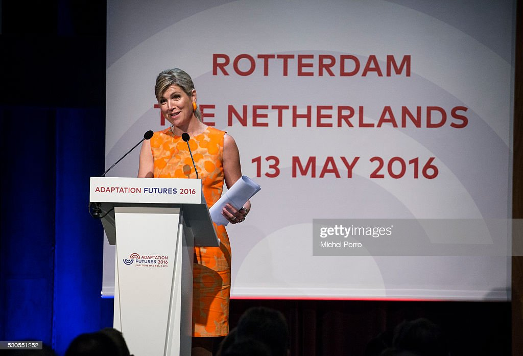 Queen Maxima Of The Netherlands Speaks At Adaptation Futures Climate Conference : News Photo