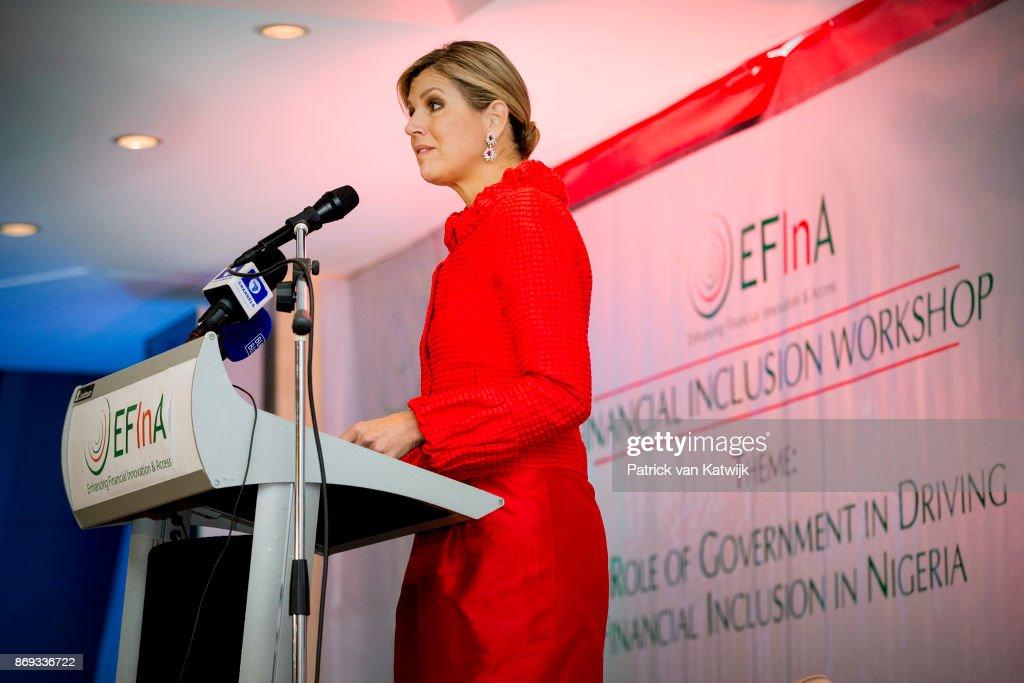 Queen Maxima Of The Netherlands Visits Nigeria : Day Three : Nieuwsfoto's