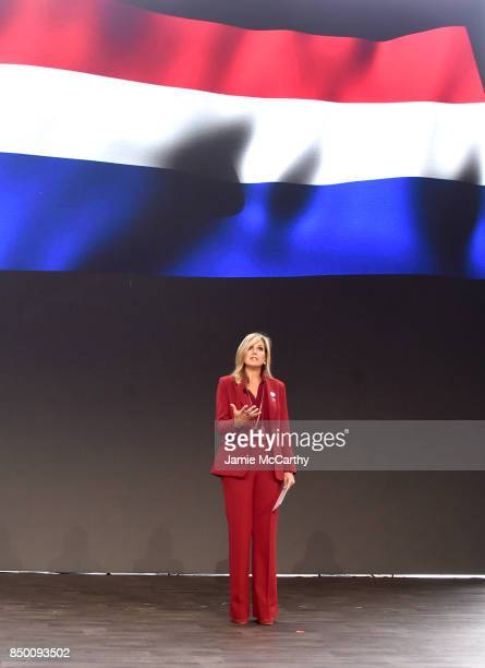 Queen Maxima of the Netherlands speaks speaks at Goalkeepers 2017 at Jazz at Lincoln Center on September 20 2017 in New York City Goalkeepers is...