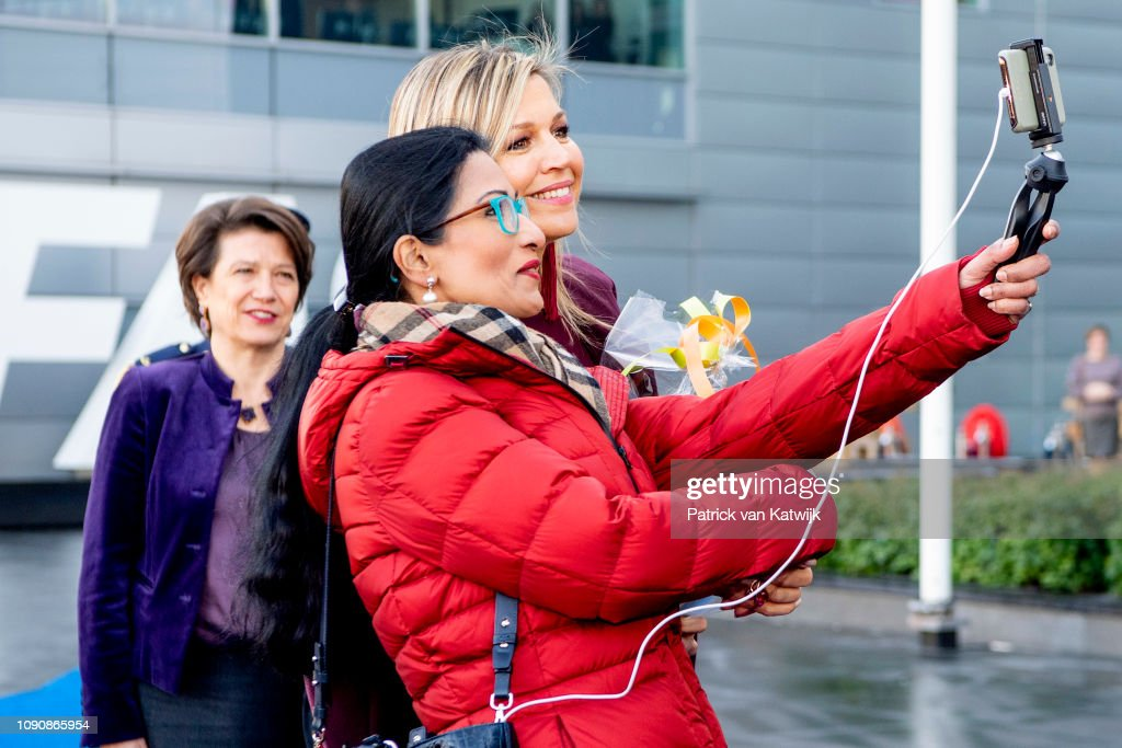 Queen Maxima  Of The Netherlands Visits Afas Software In Leusden : News Photo