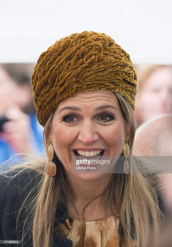 Queen Maxima of The Netherlands takes part in celebrations marking the 200th anniversary of the kingdom on April 25, 2015 in Zwolle, Netherlands.