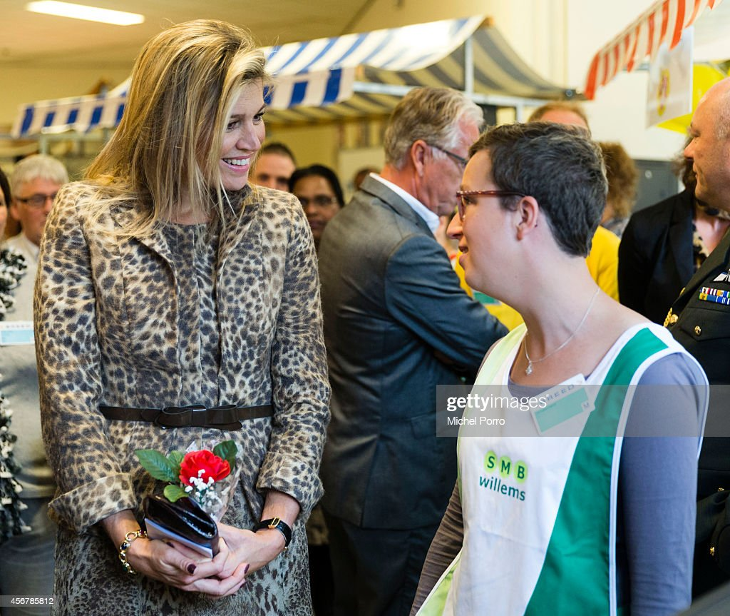 Queen Maxima Of The Netherlands Visits Social Employment Agency Breed : News Photo