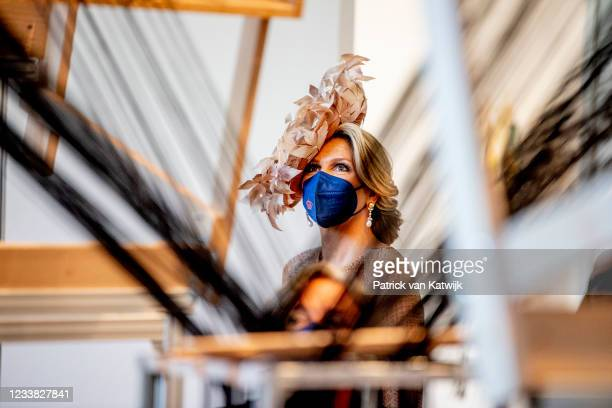 Queen Maxima of The Netherlands visit Gropius Bau museum where they visit makers and participants of the ALL GOOD program for Dutch and German...