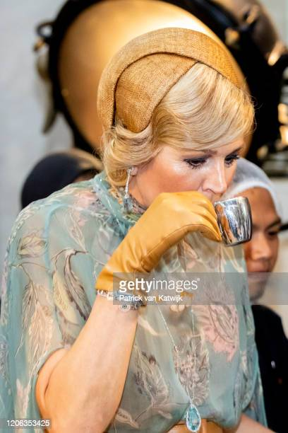 Queen Maxima of The Netherlands visit Pipiltin chocolate factory on March 10 2020 in Jakarta Indonesia The Dutch King and Queen are in Indonesia for...
