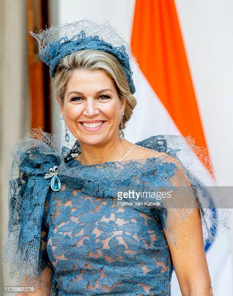 Queen Maxima of The Netherlands visit Prime Minister Narendra Modi on October 14, 2019 in New Delhi, India. (Photo by Patrick van Katwijk/Getty Images
