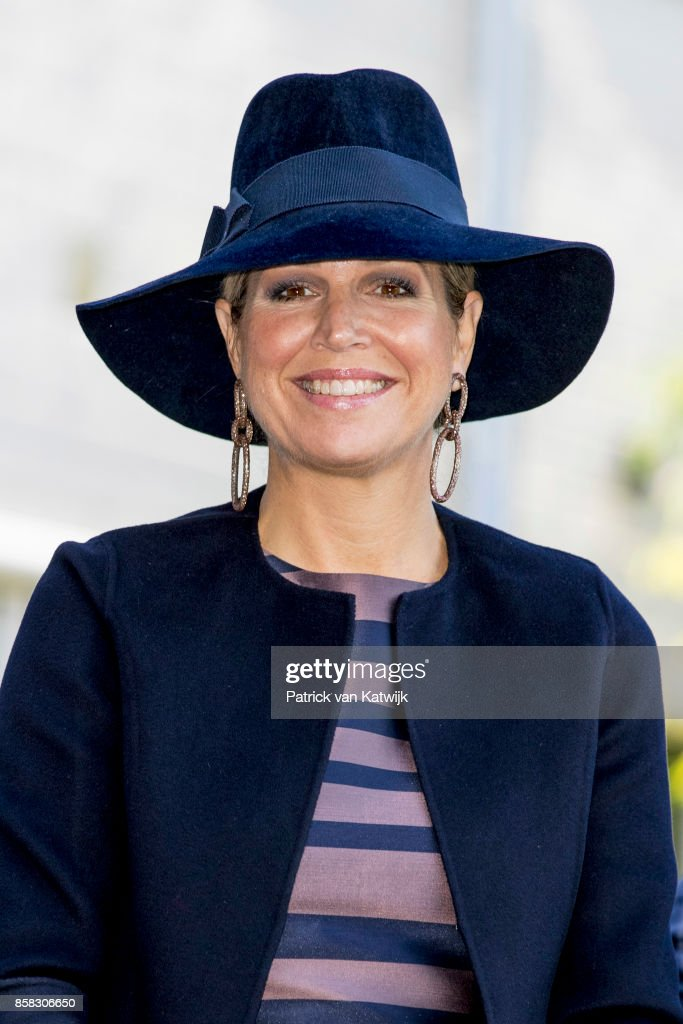 Queen Maxima of The Netherlands visits 5th Teachers' Congress on October 5, 2017 in Amersfoort, Netherlands. The conference, organized by the Education Cooperative, takes place at ROC Middenland.