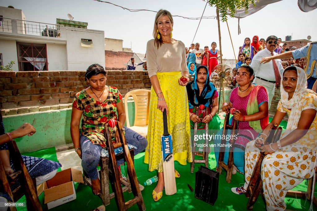 Queen Maxima Of The Netherlands Visits India - Day 2 : Nieuwsfoto's
