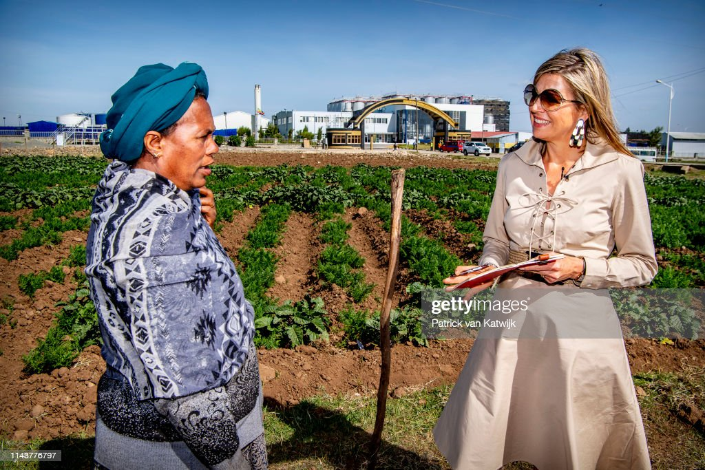 Queen Maxima Of The Netherlands Visits Ethiopia : Day One : News Photo