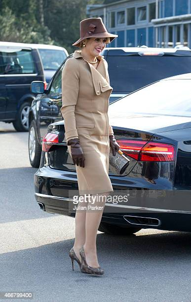 Queen Maxima of The Netherlands visits Bispebjerg Hospital during a State visit to Denmark on March 18 2015 in Copenhagen Denmark