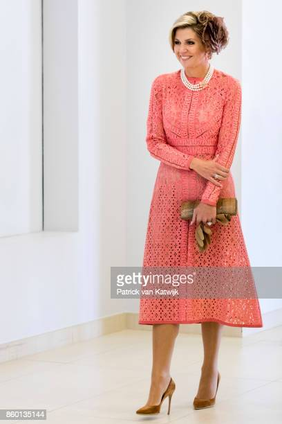 Queen Maxima of The Netherlands visits Champalimaud Centre on October 11 2017 in Lisboa CDP Portugal Foundation Champalimaud develops programs for...