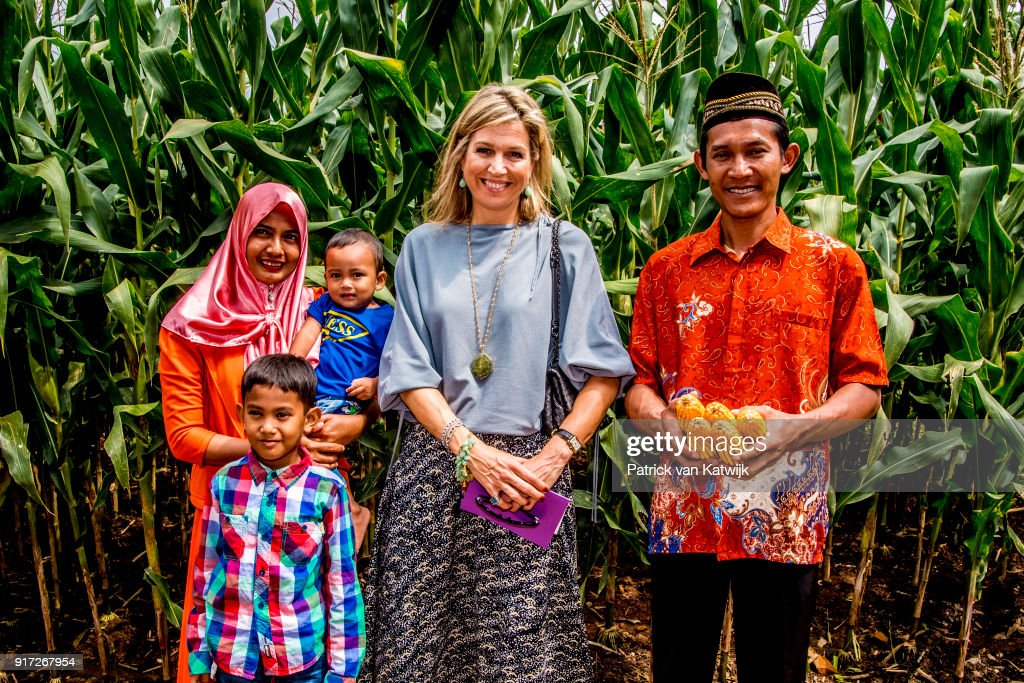 Queen Maxima Of The Netherlands Visits Indonesia : Day One