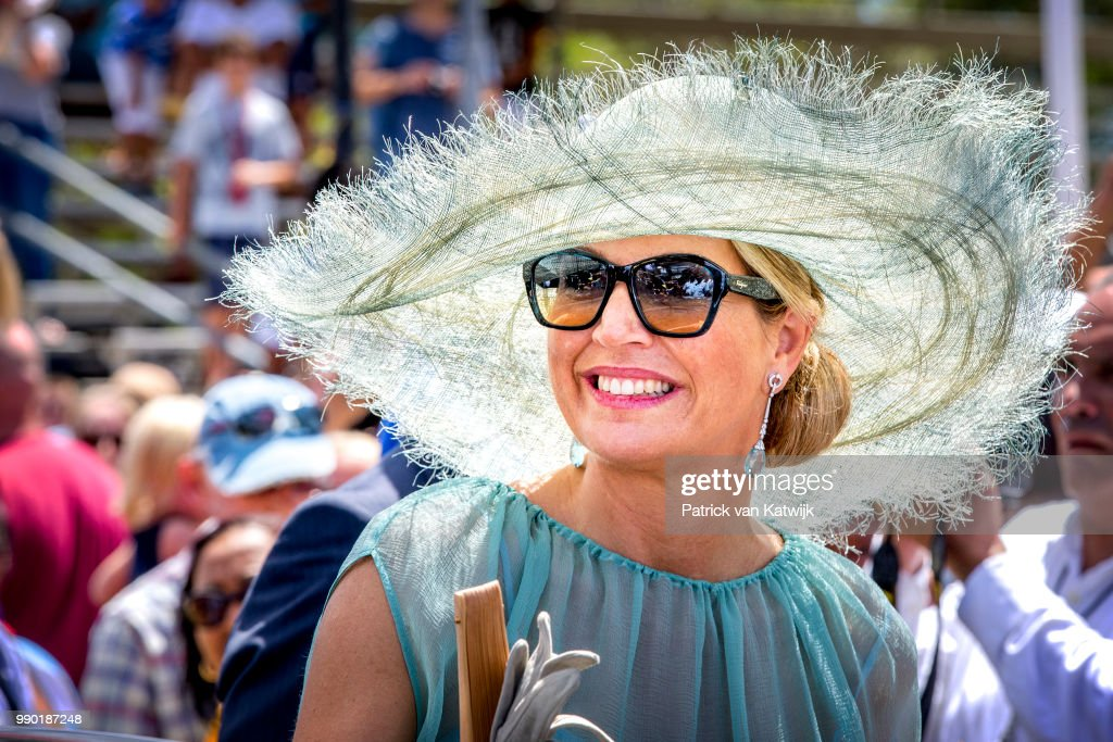 Queen Maxima of The Netherlands visits Curacao during the Dia di Bandera celebrations on July 2, 2018 in Willemstad, Curacao.