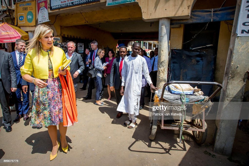 Queen Maxima Of The Netherlands Visits Nigeria : Day Two : Nieuwsfoto's