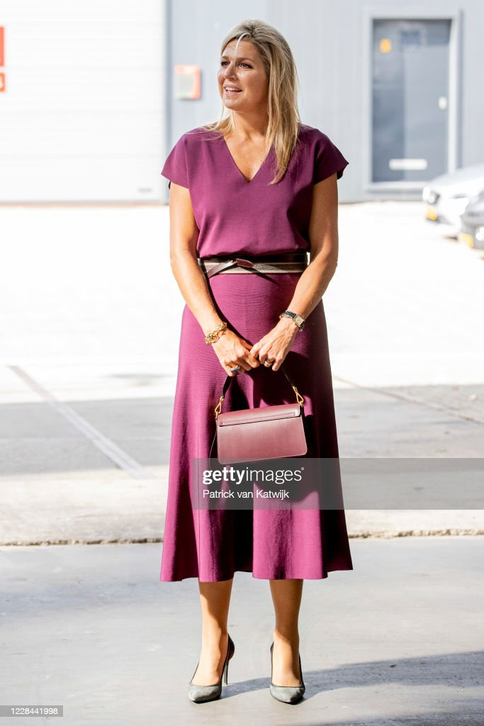 Queen Maxima Of The Netherlands Visits Doornbos Equipment in Rotterdam : News Photo