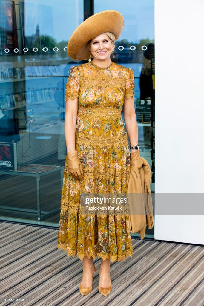 Queen Maxima Of The Netherlands Visits EYE Amsterdam : News Photo