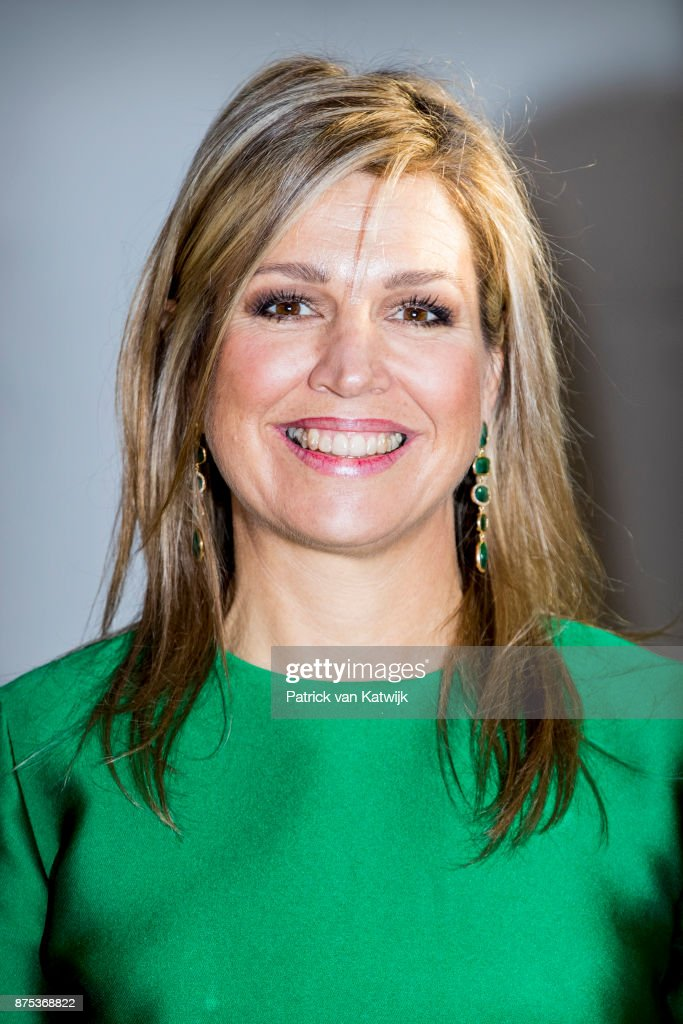 Queen Maxima of The Netherlands visits family company Octatube on the day of the entrepreneur on November 17, 2017 in Delft, Netherlands. Octatube is carrying out projects in-house from design to completion.