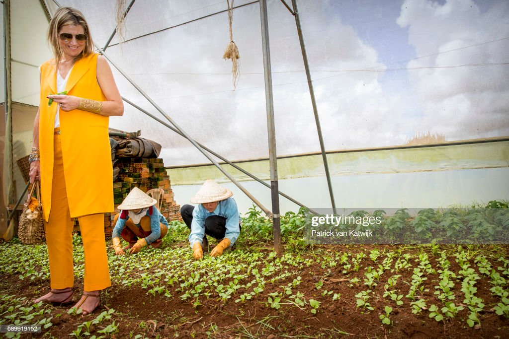 Queen Maxima Of The Netherlands On A Three Day Visit In Vietnam - Day One : Nieuwsfoto's