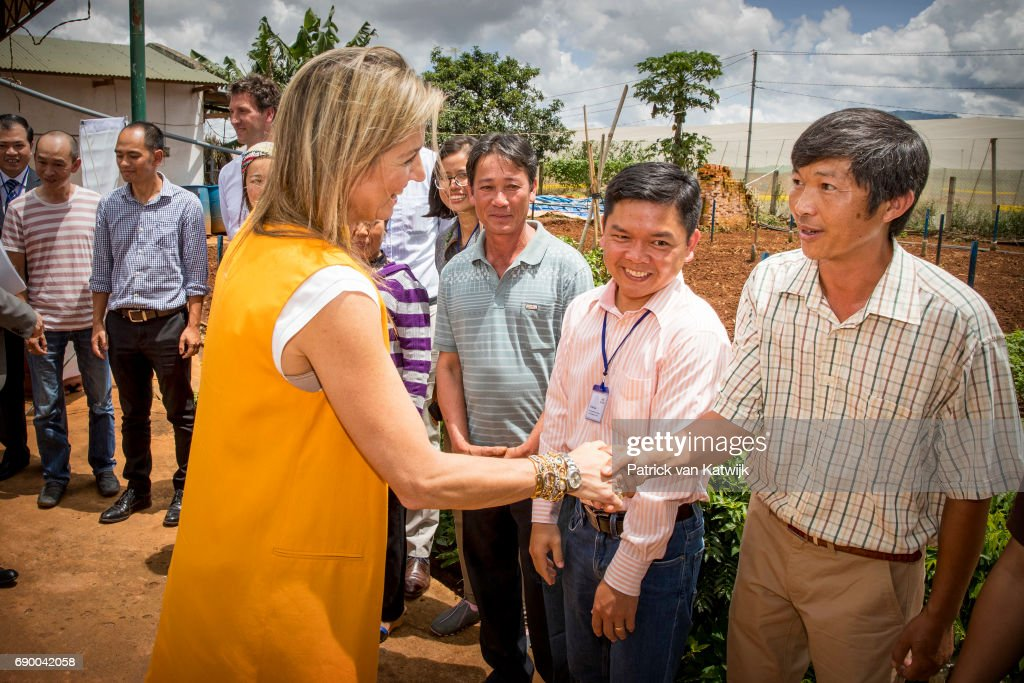 Queen Maxima On A Three Day Visit In Vietman : Day One : Nieuwsfoto's