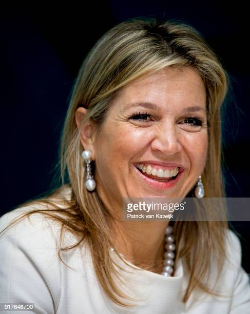 Queen Maxima of The Netherlands visits GoJek mobile transport services on February 13 2018 in Jakarta Indonesia Queen Maxima visits Indonesia as...