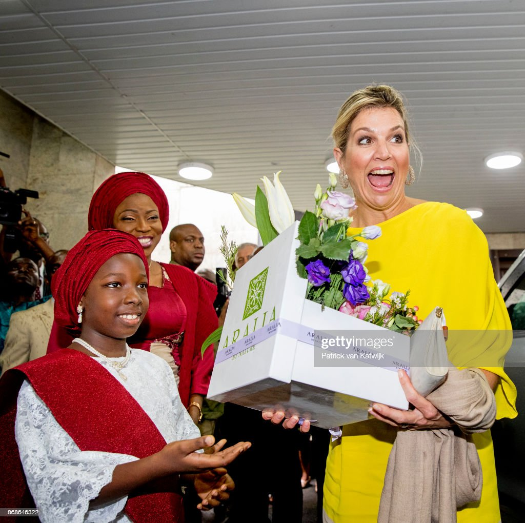 Queen Maxima Of The Netherlands Visits Nigeria : Day One : Fotografía de noticias