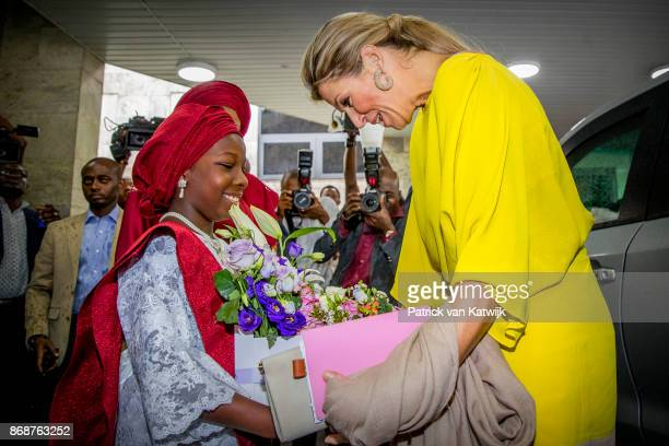 Queen Maxima of The Netherlands visits governor Akinwunmi Ambode at his office on October 31 2017 in Lagos Nigeria Queen Maxima of The Netherlands...
