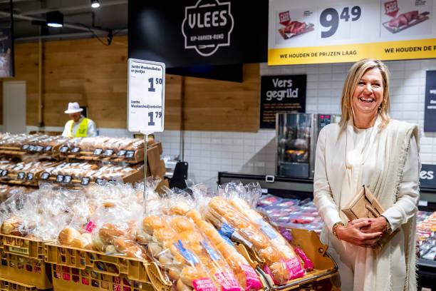 NLD: Queen Maxima Of The Netherlands Visits Jumbo Supermarket In Nijmegen