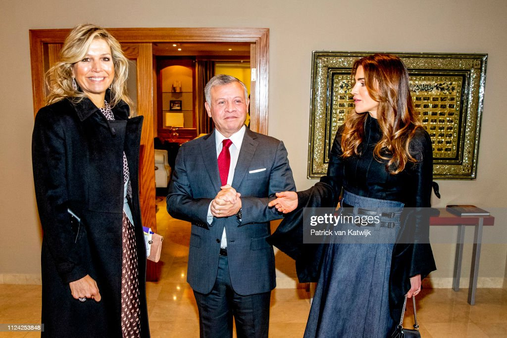 Queen Maxima visits Jordan day 2 : News Photo