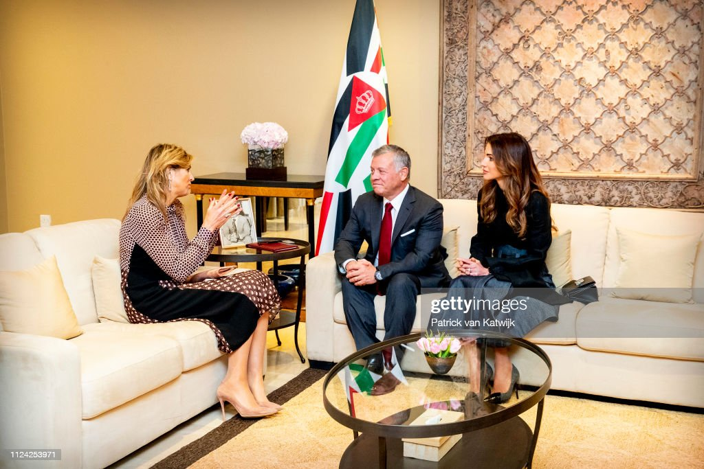 JOR: Queen Maxima Of The Netherlands Visits Jordan - Day Two