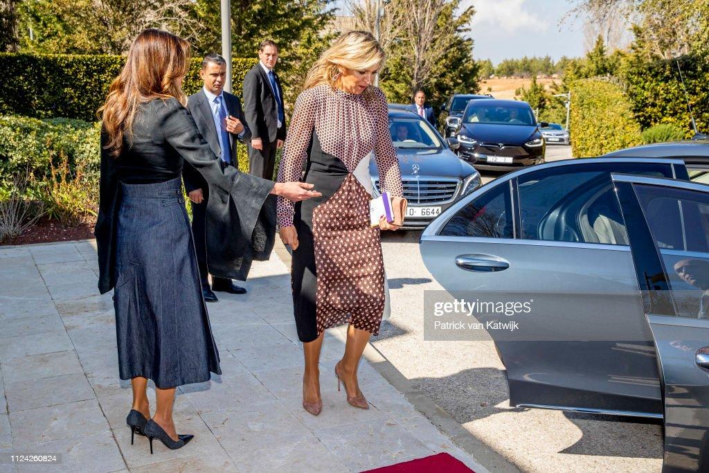 Queen Maxima visits Jordan day 2 : News Photo