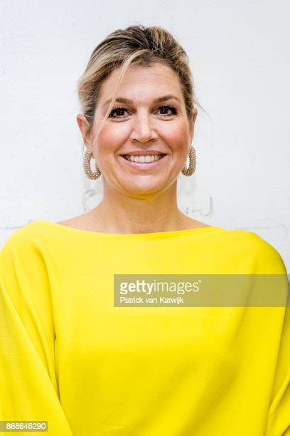 Queen Maxima of The Netherlands visits Lidya initiative for SME for upcoming markets in Africa for low key loanson October 31 2017 in Lagos Nigeria...
