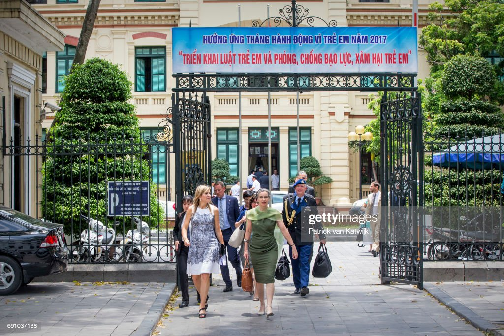 Queen Maxima Of The Netherlands On A Three Day Visit In Vietnam - Day Three : Nieuwsfoto's
