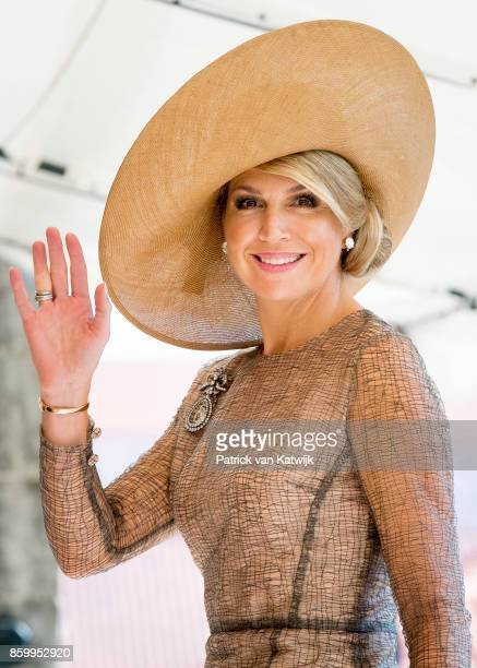Queen Maxima of The Netherlands visits President Marcelo Rebelo de Sousa of Portugal at Palacio de Belem on October 10 2017 in Lisboa CDP Portugal