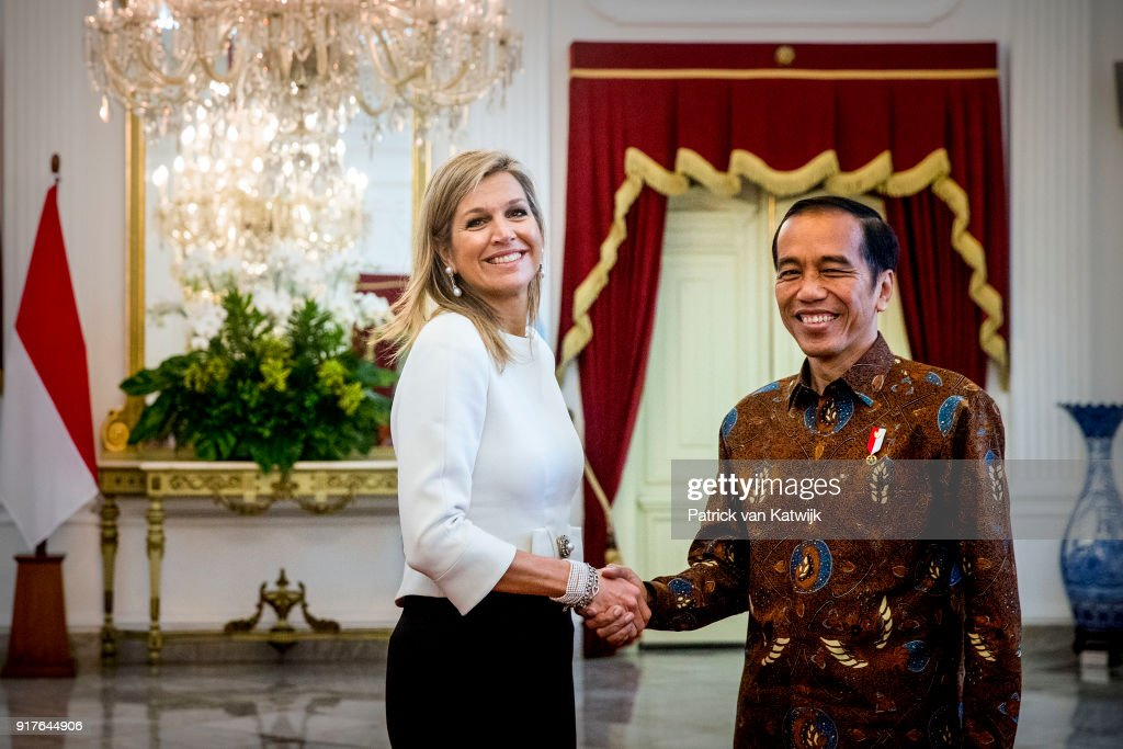 Queen Maxima Of The Netherlands Visits Indonesia : Day Two : News Photo