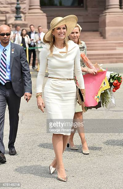 Queen Maxima of The Netherlands visits Queen's Park during state visit to Canada on May 29 2015 in Toronto Canada