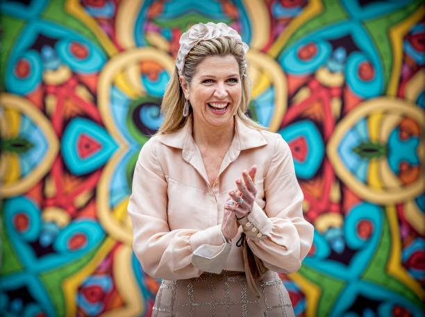 FRA: Queen Maxima Of The Netherlands Attends A Music Program For Children In Keukenhof Lisse