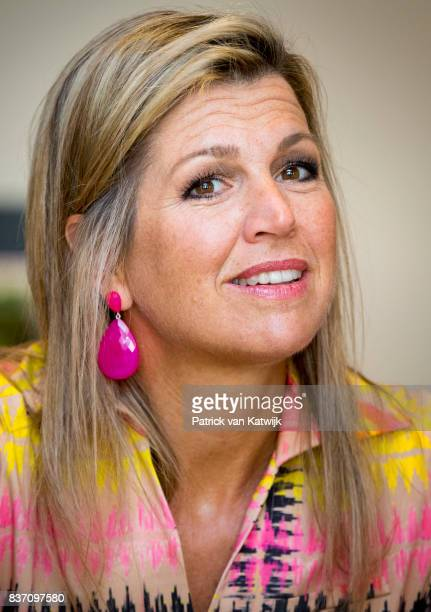 Queen Maxima of The Netherlands visits the 60th anniversary of Kansfonds on August 22 2017 in Delft Netherlands Kansfonds supports local initiatives...